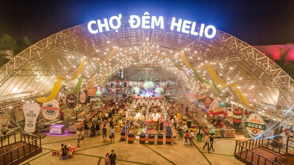 Chợ Đêm Helio Market - Top địa điểm vui chơi đà nẵng bạn đêm.