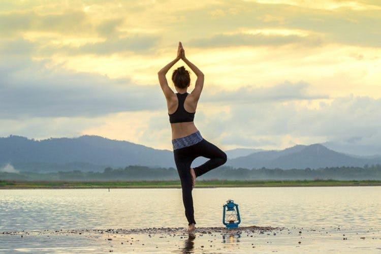 Bài tập Yoga cơ bản với tư thế cây thăng bằng