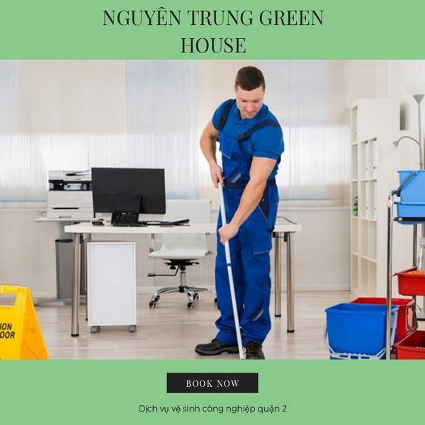 Dịch vụ vệ sinh công nghiệp Nguyên Trung Green House tại quận 2
