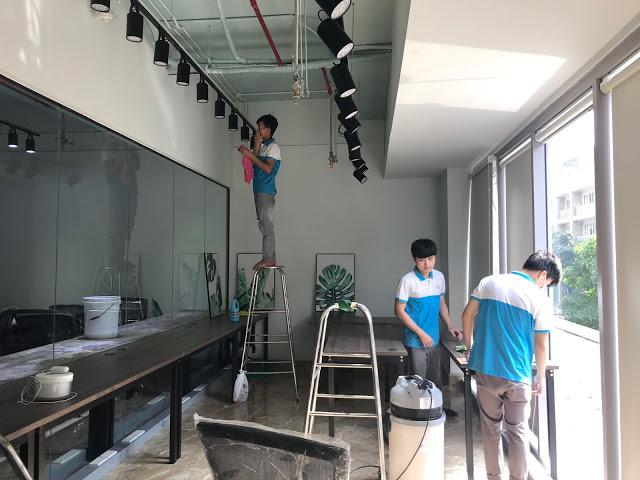 Dịch vụ vệ sinh văn phòng quận 2 GoClean