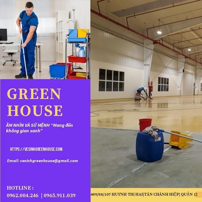 Dịch Vụ Vệ Sinh Nhà Xưởng GreenHouse