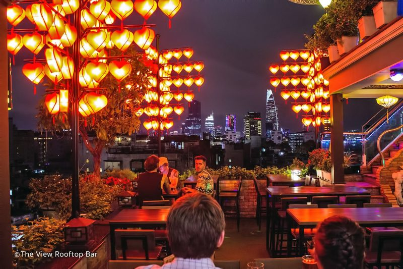 Quán The View Rooftop Bar Sài Gòn Tuyệt Vời