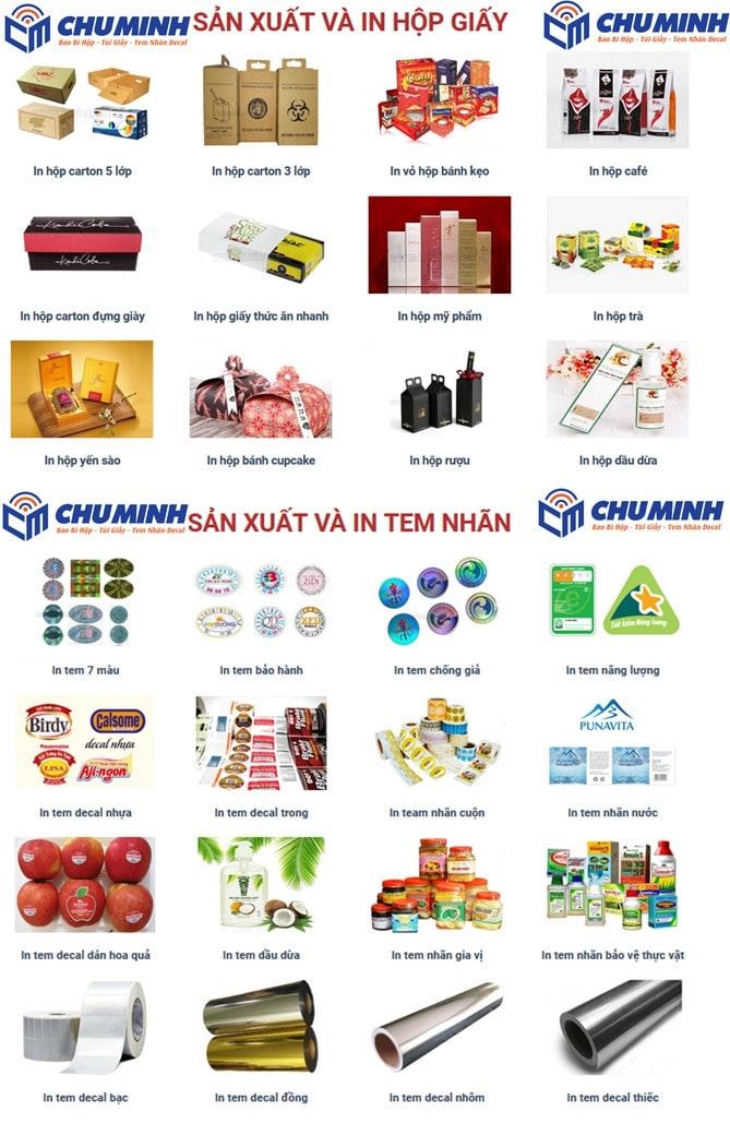 Xưởng in ấn Chú Minh: Chuyên gia công tem nhãn decal, bao bì túi hộp giấy ở HCM