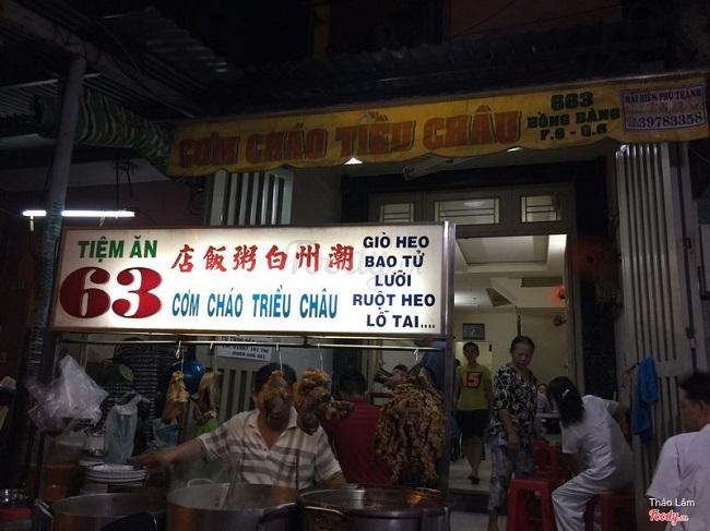 Quán ăn người hoa cơm cháo Triều Châu