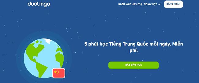 Trang web học tiếng trung online miễn phí tại nhà - Doulingo