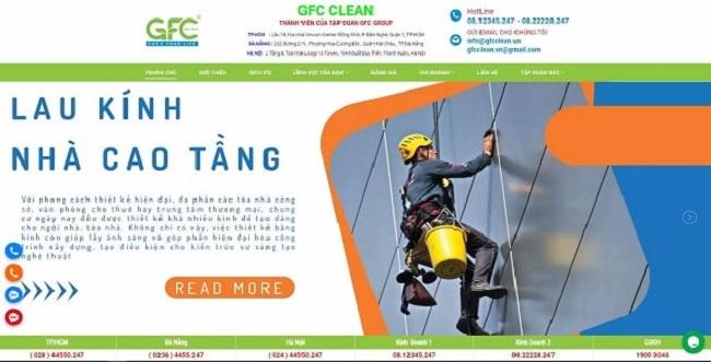Lau kính tòa nhà GFC CLEAN