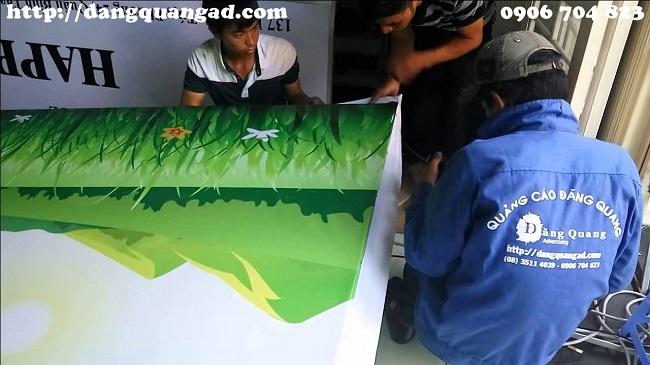 Công trình thi công tại Công ty TNHH quảng cáo Đăng Quang