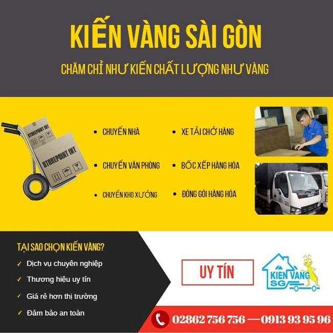 Kiến Vàng Sài Gòn - Dịch vụ chuyển kho xưởng trọn gói