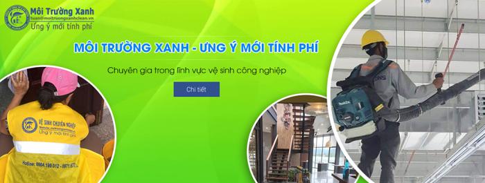 công ty dịch vụ vệ sinh tại tphcm VSCN Môi Trường Xanh