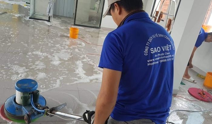 Dịch vụ vệ sinh công nghiệp giá rẻ Sao Việt – Tân Phú